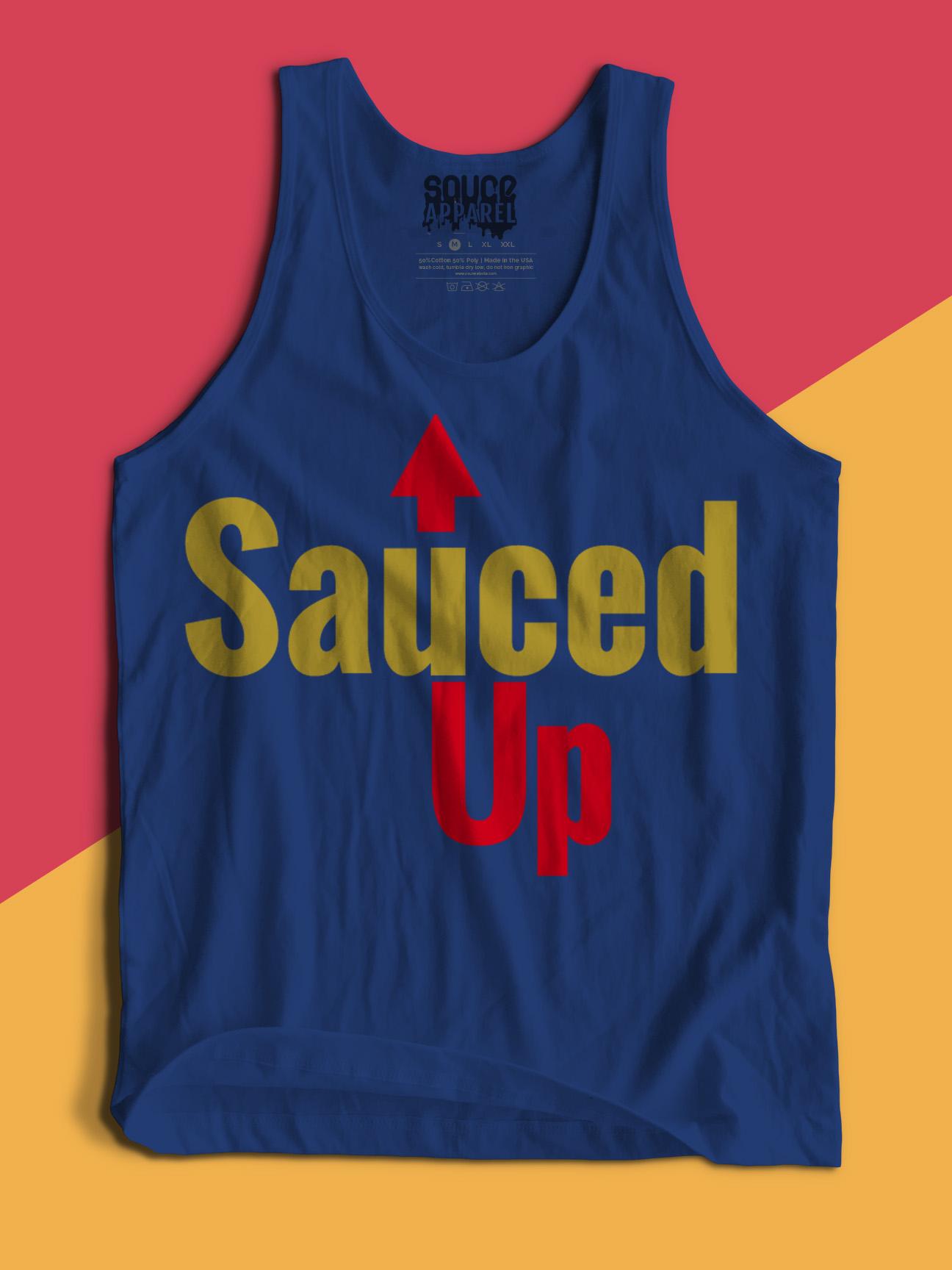 Sauced Up Tank (Navy)